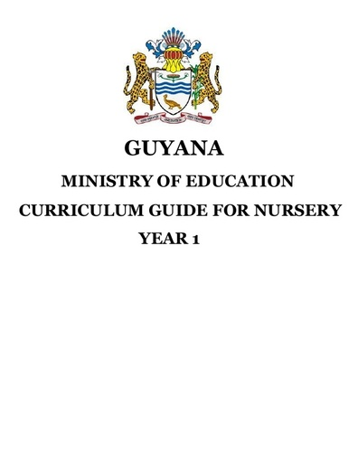 Nursery Curriculum Guides Yr 1