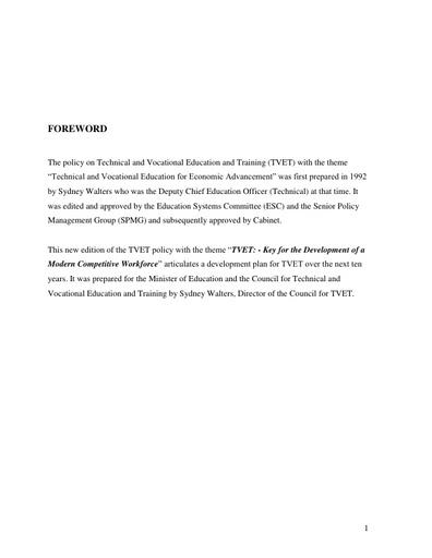 TVET Policy Guyana