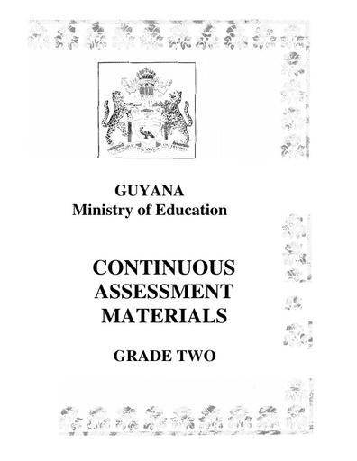 MOE Continuous Assessment Materials Grade 2