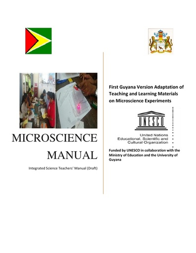 Integrated Science Teachers' Manual