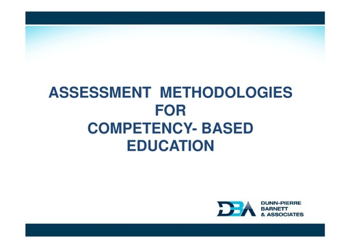 Assessment Methodologies for CBET