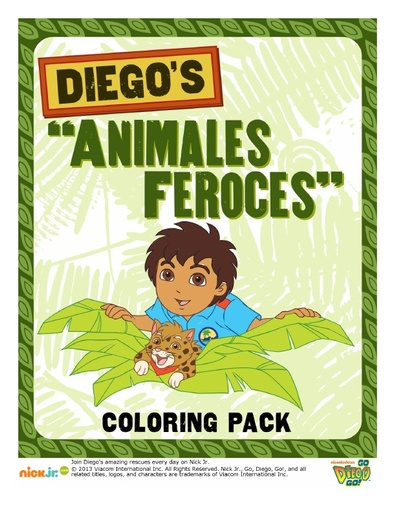 Diego Animales Feroces Coloring Pack
