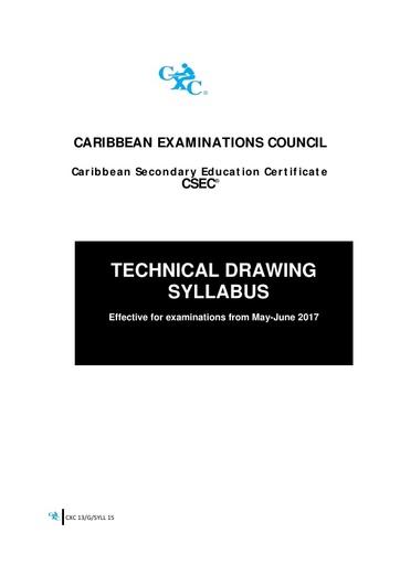 CSEC Technical Drawing Syllabus
