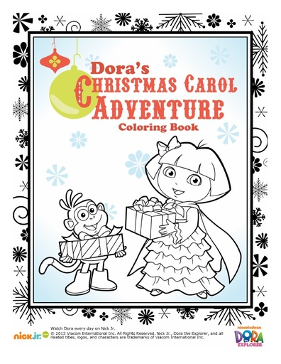 Dora Christmas Coloring Pack