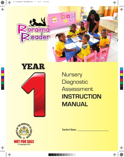 Nursery Diagnostic Assessment Instruction Manual Year 1