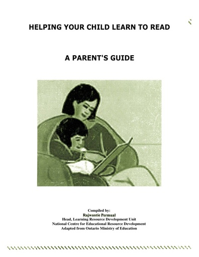 Helping your child learn to read A Parent's Guide old