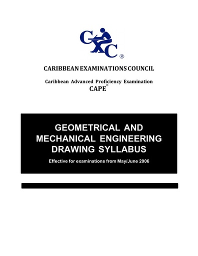 Geometrical and Mechanical Engineering Drawing