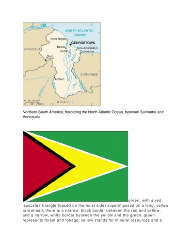 Guyana Country Report for UNESCO