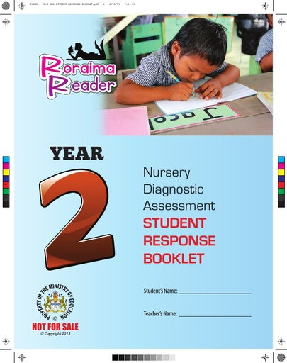 Nursery Diagnostic Assessment Student Response Booklet Year 2