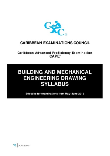 CAPE Building and Mechanical Engineering Syllabus