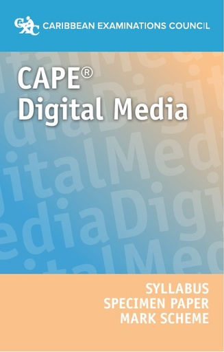 CAPE Digital Media Syllabus