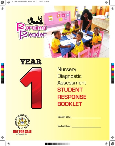 Nursery Diagnostic Assessment Student Response Booklet Year 1