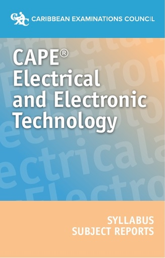 CAPE Electrical and Electronic Technology