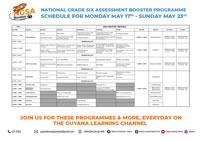 WEEK 1 - NGSA BOOSTER TIMETABLE