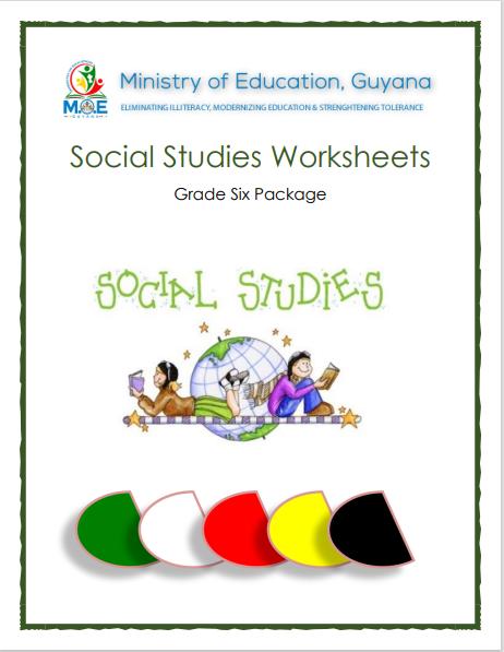 Social Studies Worksheets - Grade Six Study Package